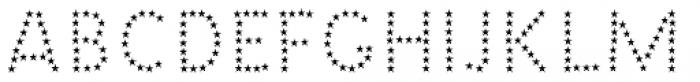 Barack Pro Stars Font UPPERCASE