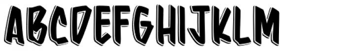 Barata Display Shadow Font UPPERCASE