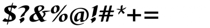 Barbedor Heavy Italic Font OTHER CHARS