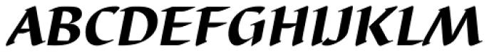 Barbedor Heavy Italic Font UPPERCASE