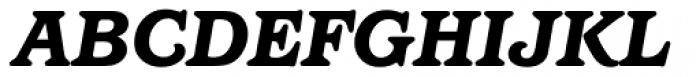 Barcelona Medium Heavy Italic Font UPPERCASE