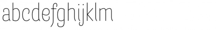 Barcis Con Thin Font LOWERCASE
