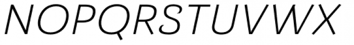 Barcis Ext Book Italic Font UPPERCASE