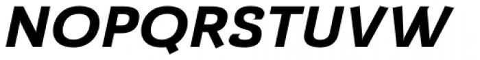 Barcis Ext Exbold Italic Font UPPERCASE