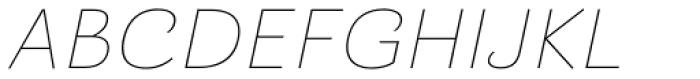 Barcis Ext Thin Italic Font UPPERCASE