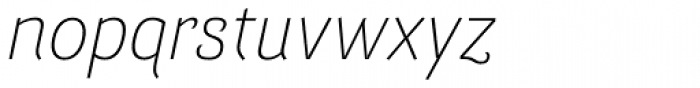 Barcis Normal Light Italic Font LOWERCASE