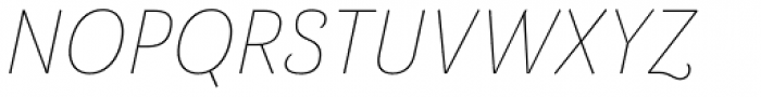 Barcis Normal Thin Italic Font UPPERCASE