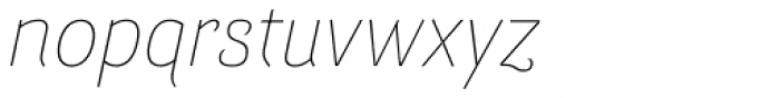 Barcis Normal Thin Italic Font LOWERCASE