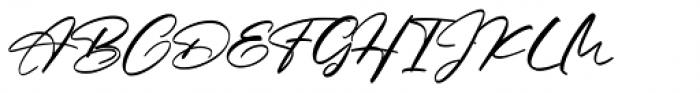 Barefood Sign Regular Font UPPERCASE