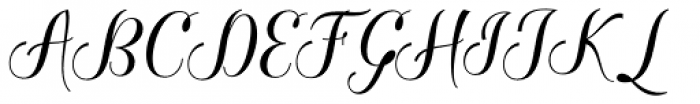 Baristafi Regular Font UPPERCASE
