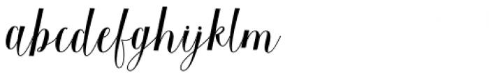 Baristafi Regular Font LOWERCASE