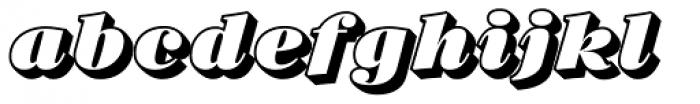 Barkley Block Italic Font LOWERCASE