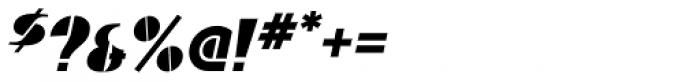 Baro Black Italic Font OTHER CHARS