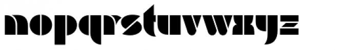Baro Black Font LOWERCASE