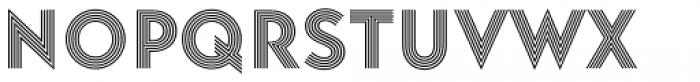 Baro Strip Font LOWERCASE