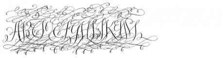 Barocca Monograms (1000 Impressions) Font UPPERCASE