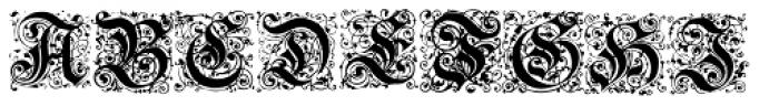 Baroque AJ Font LOWERCASE