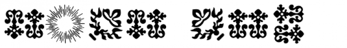 Baroque Borders A Font OTHER CHARS