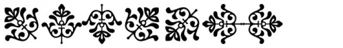 Baroque Borders A Font UPPERCASE