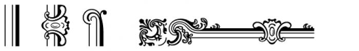 Baroque Borders B Font UPPERCASE