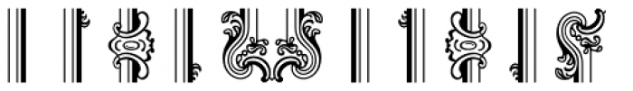 Baroque Borders B Font LOWERCASE