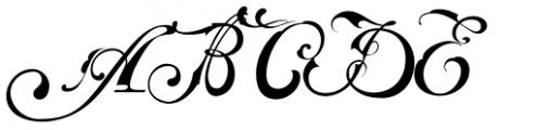 Baroque Mortale Font UPPERCASE
