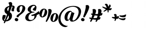 Barracuda Script Font OTHER CHARS