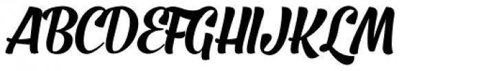 Barracuda Script Font UPPERCASE