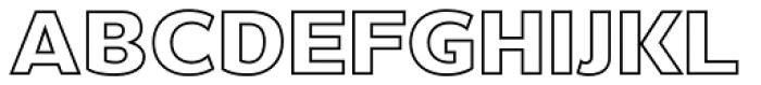 Barranco Inline Black Font LOWERCASE