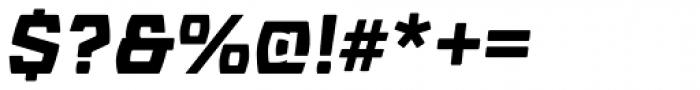 Barrez Heavy Italic Font OTHER CHARS