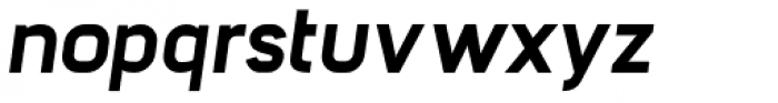 Barrister Sans ExtraBold Italic Font LOWERCASE