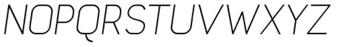 Barrister Sans Light Italic Font UPPERCASE