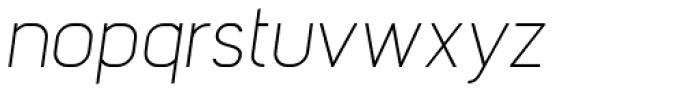 Barrister Sans Light Italic Font LOWERCASE