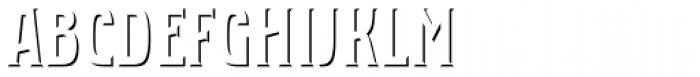 Bartender Shadow Font UPPERCASE