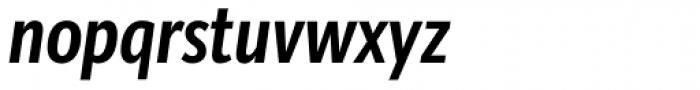 Bartholeme Sans ExtraBold Italic Font LOWERCASE