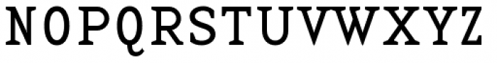 Base 12 Serif Font UPPERCASE