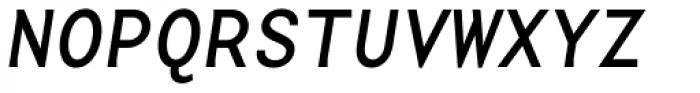 Base Monospace Wide Italic Font UPPERCASE