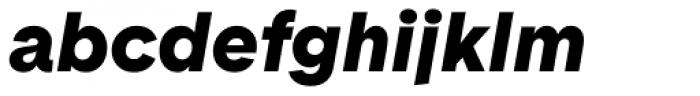 Basetica Black Italic Font LOWERCASE