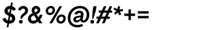 Basetica Medium Italic Font OTHER CHARS