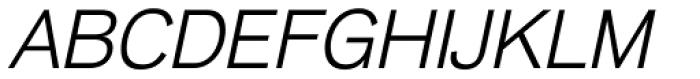 Basic Commercial Com Light Italic Font UPPERCASE