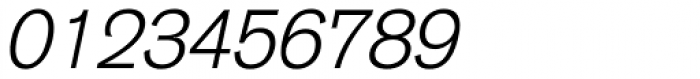 Basic Commercial Light Italic Font OTHER CHARS