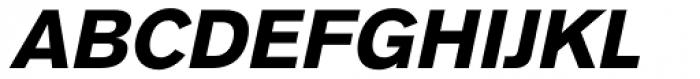 Basic Commercial Pro Black Italic Font UPPERCASE