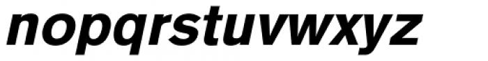 Basic Commercial Pro Black Italic Font LOWERCASE
