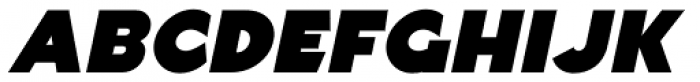 Basic Lettering Oblique JNL Font UPPERCASE