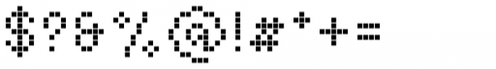 Basic Pixel Display Font OTHER CHARS
