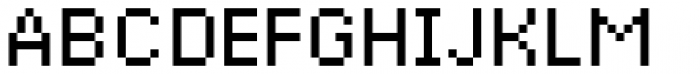 Basic Pixel Standard Font UPPERCASE