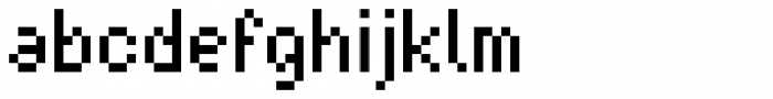 Basic Pixel Standard Font LOWERCASE