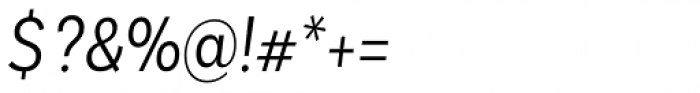 Basic Sans Alt Cnd Light It Font OTHER CHARS