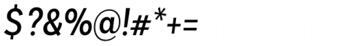 Basic Sans Alt Cnd Regular It Font OTHER CHARS