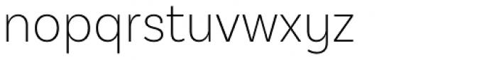 Basic Sans Alt Narrow Extra Light Font LOWERCASE